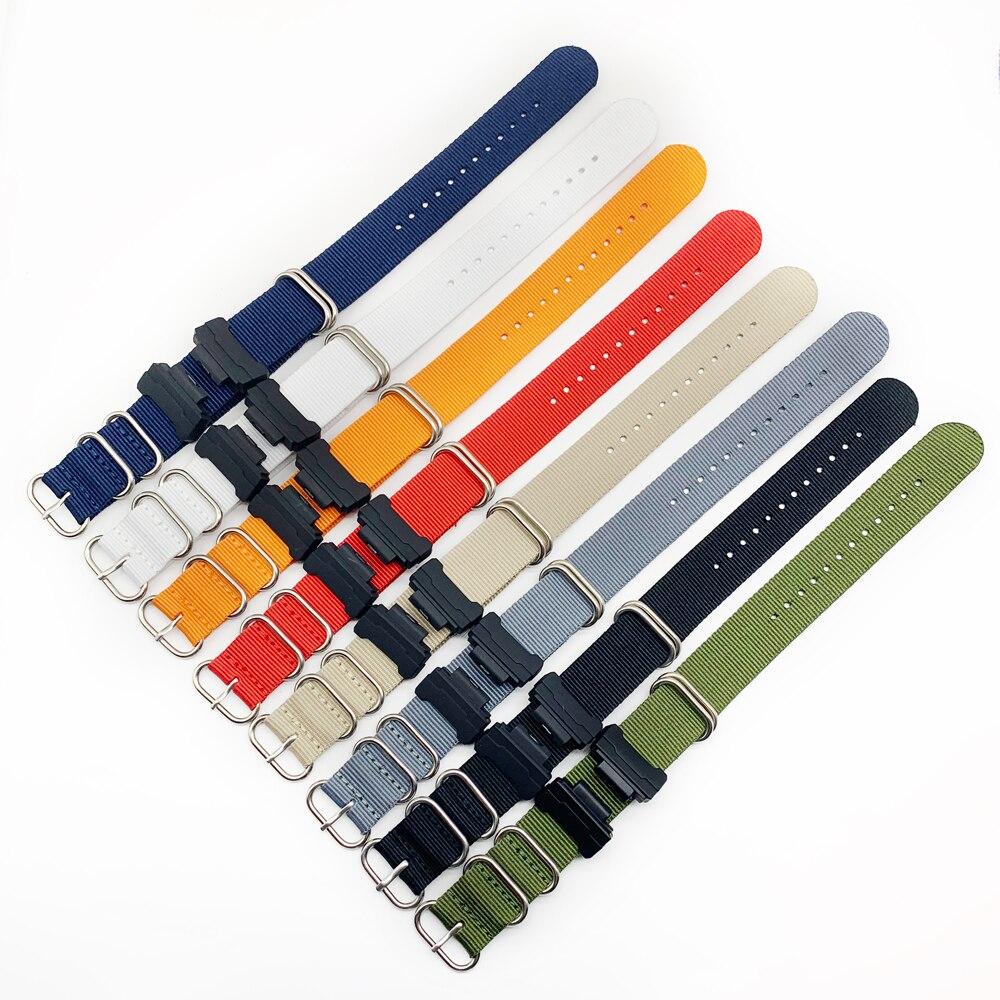 16mm Adapters+ HD Conversion RAF NATO Nylon Watch Band Strap Kit for Casio GShock MIL-Shock 5600 GWM5610 DW6600 GW6900 2310 G100