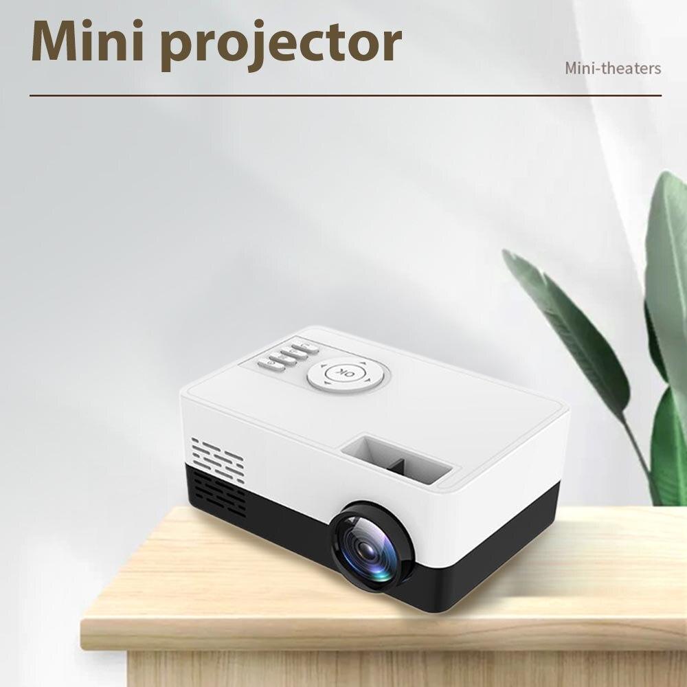 جهاز عرض صغير محمول دعم 1080P عرض الفيديو الرئيسية مشغل الوسائط جيب فيديو سينما هدية للأطفال الأصدقاء