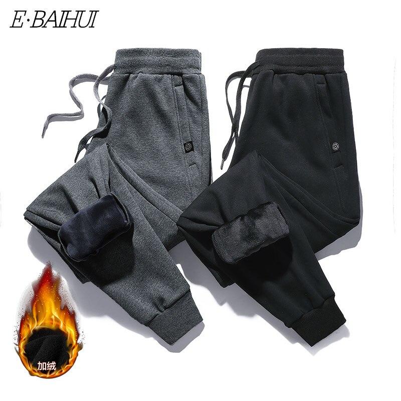2020 толстые флисовые штаны для бега, мужские спортивные хлопковые брюки, мужские зимние теплые бархатные спортивные брюки, шаровары, спортив...