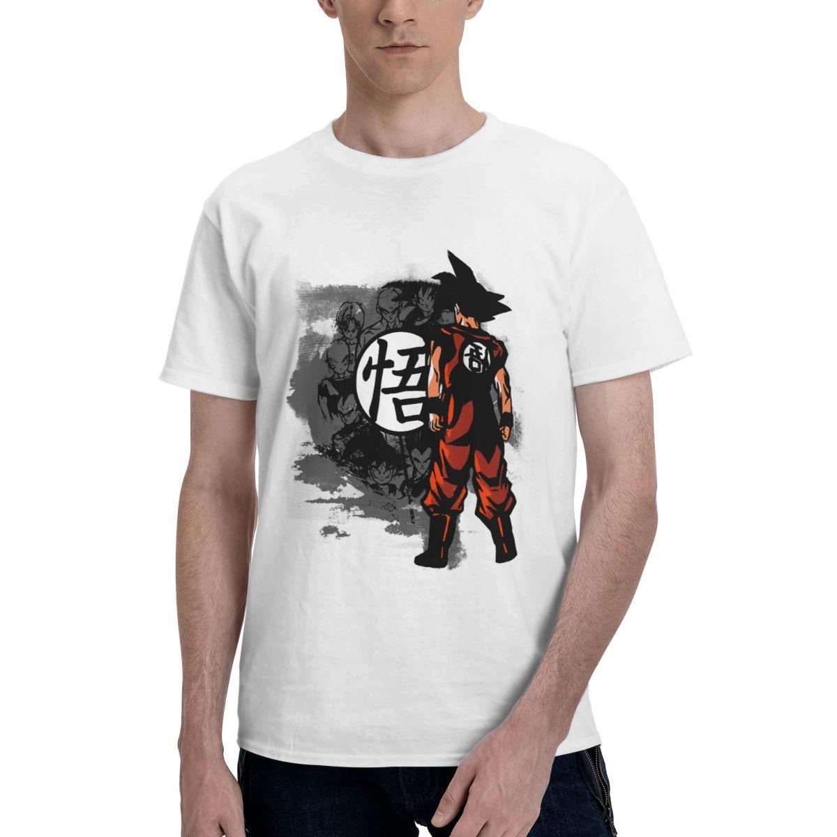 جوكو بانداي لعبة دراغون بول Z تي شيرت الرجال أنيمي سوبر سايان الترفيه 100% القطن تي شيرت قصيرة الأكمام تي شيرت حجم كبير الملابس