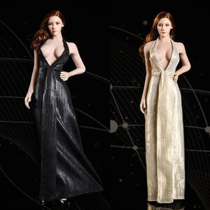 In stock VSTOYS 1/6 19XG52 goddess evening dress doll evening dress skirt 12 inches woman doll/doll available non-human supplies