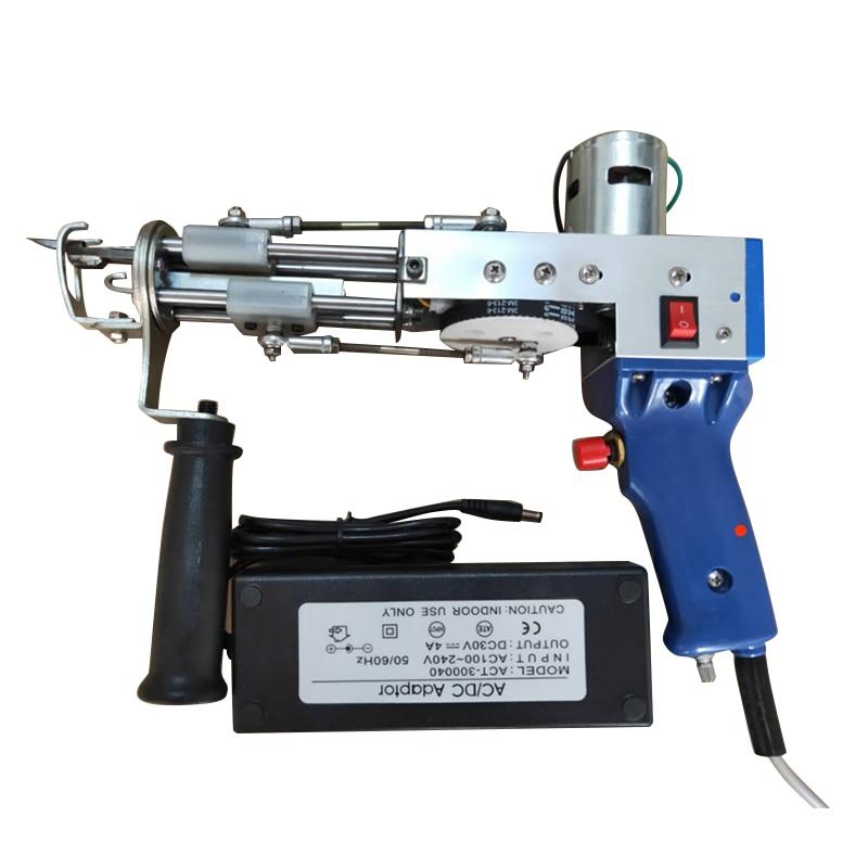 الكهربائية السجاد تلمم بندقية اليد بندقية السجاد النسيج يتدفقون آلات حلقة كومة TD-02