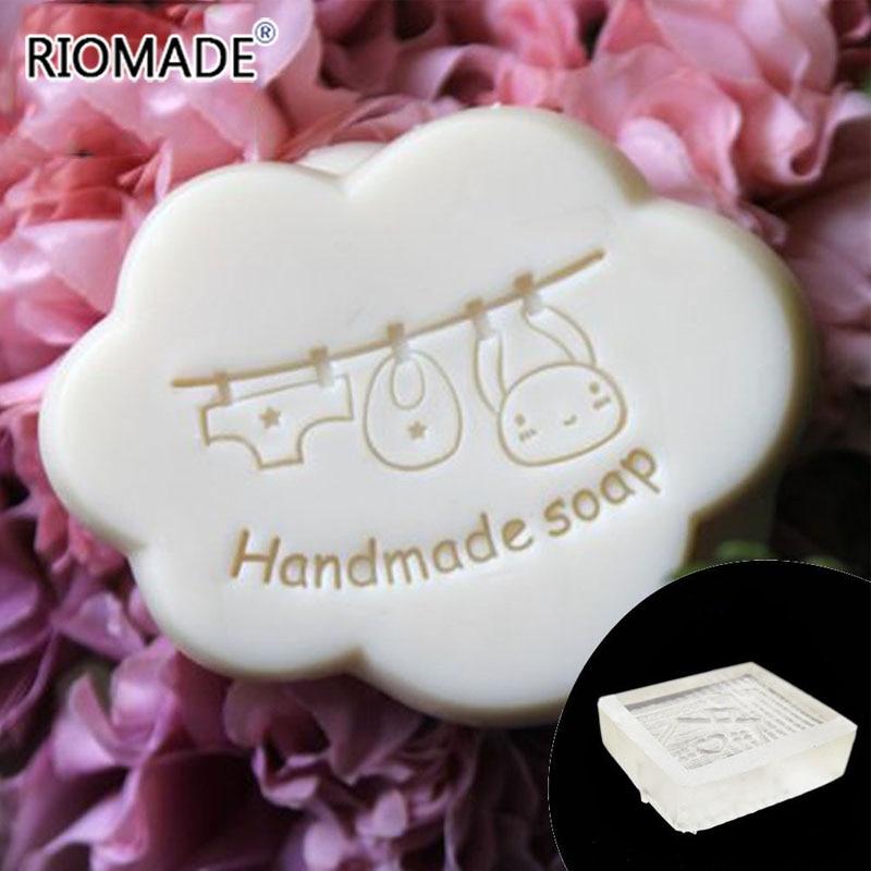 Ropa de bebé, sello de jabón hecho a mano, sello de fabricación de jabón Natural transparente con mango de acrílico, patrón personalizado