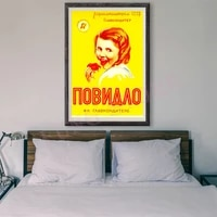 RE255     peinture de Style russe retro  affiche publicitaire commerciale personnalisee en soie  80  decoration murale  cadeau de noel