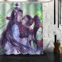 ShunQian Mo Dao Zu Shi Anime rideau de douche Polyester tissu écrans de bain rideaux pour salle de bain 3D étanche bain rideau crochet