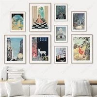 virginia fairy tales princess knight art canvas painting nordic posters and prints wall pictures for living room vintage decor