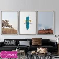 Toile de decoration de noel  affiches de paysage de foret et de ciel  tableau dart mural pour salon  decoration de maison