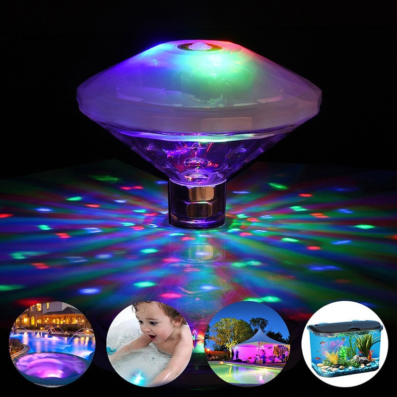 rgb swimming pool light 9w surface mounted pool lamp dc12v underwater pond lighting resin filled RGB Underwater Floating Light Swimming Pool Party Underwater Decorative Projection Lamp Pool Floats Outdoor Pool Lighting