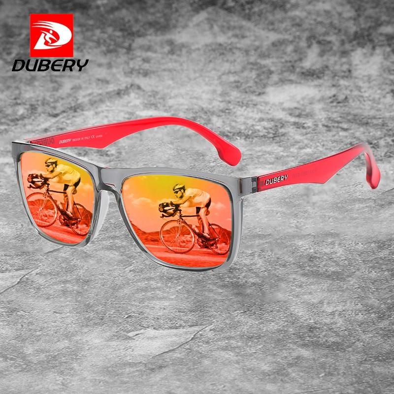 Солнцезащитные очки DUBERY мужские, модные поляризационные прямоугольные зеркальные солнечные очки с бесплатной коробкой