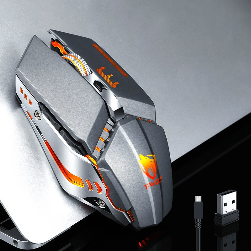 Thunder Wolf Q15 Charging Silent Wireless Mouse Notebook Computer Peripheral Office Game USB Mouse wireless mouse