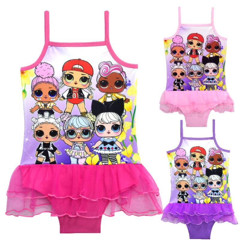 L.O.L Bathing Suit Girls One Piece Swimwear Toddler Children Baby Cartoon Bikini Kids Swim Wear Swimsuit Beachwear for Girl