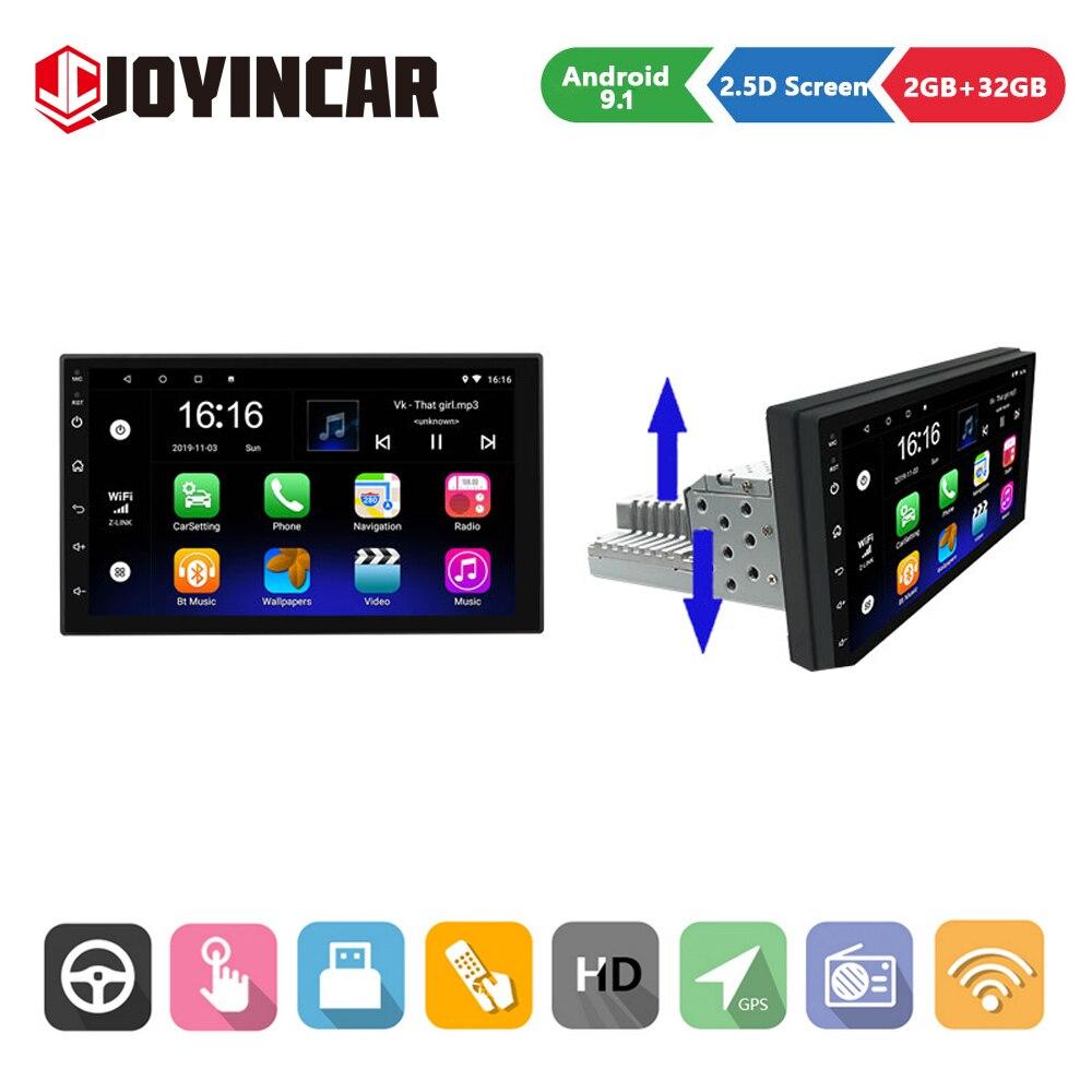 2GB + 32GB 1 din أندرويد 10.1 راديو السيارة مشغل وسائط متعددة قابل للتعديل 7 بوصة سيارة الصوت ستيريو لتحديد المواقع والملاحة واي فاي بلوتوث MP5