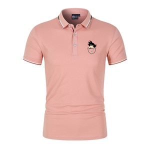 2021New Summer Short-Sleeved Boss Polo Shirt Men's Business Lapel Fashion CasualSlim Breathable Letters British Couple