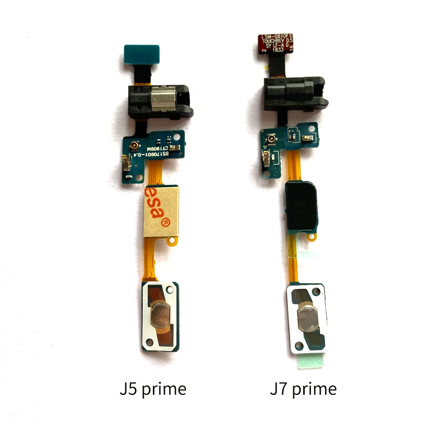 10pcs For Samsung Galaxy  J5 Prime On5 G5700 J7 Prime On7 2016 G610 Home Button Sensor Headphone Jac