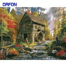 Cadre maison rurale peinture à la main par numéros Kits paysage peinture acrylique par numéro cadeau Unique pour la décoration intérieure 40x50cm