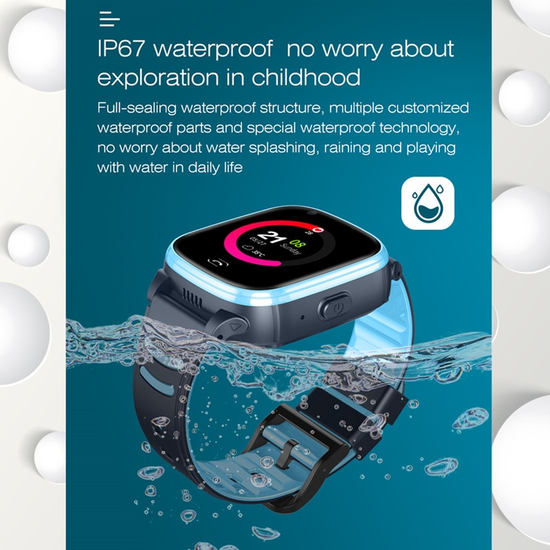 S80 Kid Smart Watch Waterproof 4G GPS WIFI LBS Tracker Phonewatch SOS Video Call For Children Anti Lost Monitor Baby Smartwatch