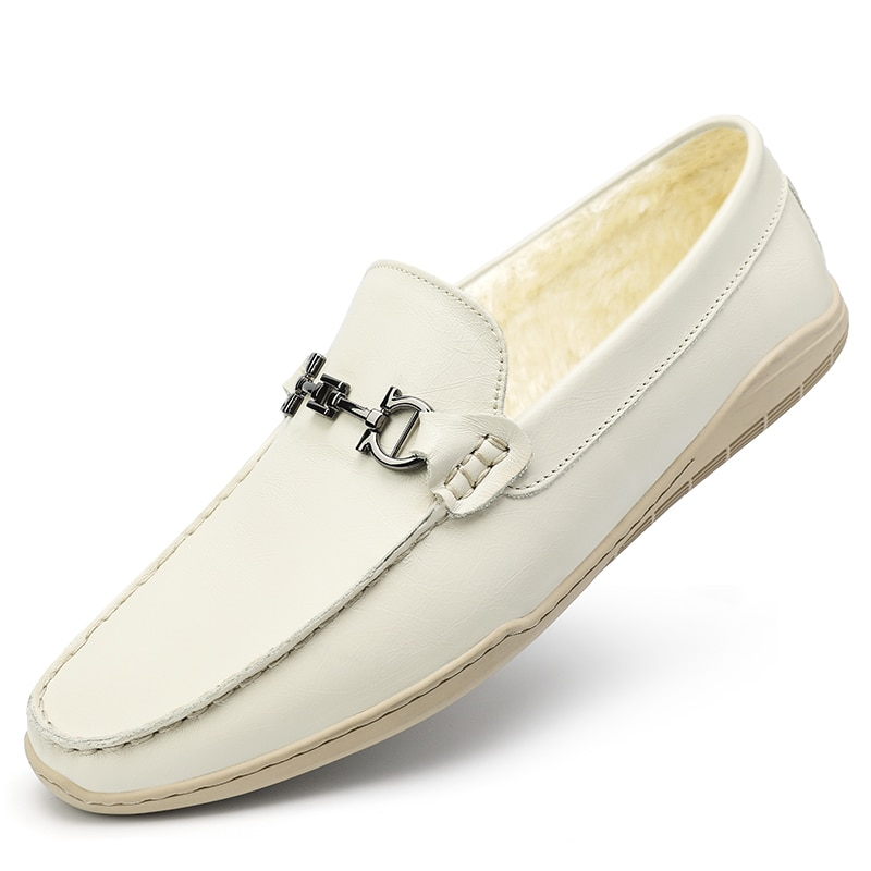 2021 New Trend Fur Men Loafers Footwear Casual Handmade Man Moccasins Designer Slip On Flats Genuine