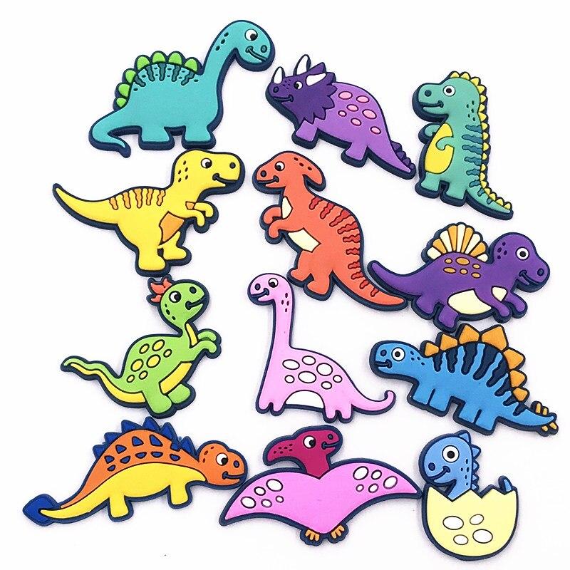 1pcs New Mini Dinosaur Cute Cartoon Animal Silicone PVC Flatback Embellishment Backpack DIY Accessories Craft Gadgets Kids Rings