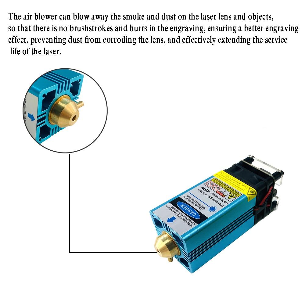40W Blue Adjust Focus Laser Module 450nm TTL/PWM Engraving Metal Cutting Wood Machine Tool Compressed Spot Technology+Safe Cover enlarge