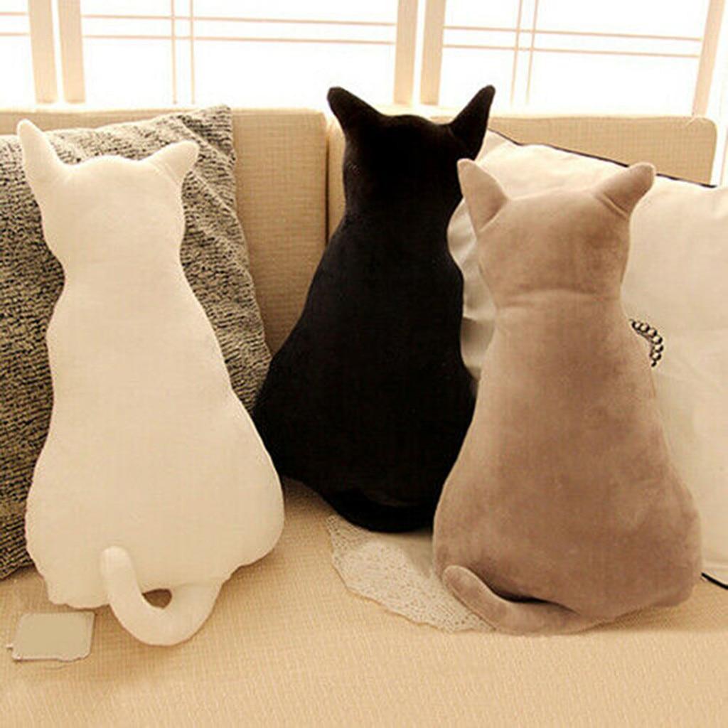 Cute Cats Soft Plush Back Shadow Toy Sofa Pillow Seat Cushion Birthday Gift 45cm Funny Dolls  Kids Toys LS  1211