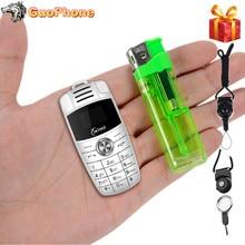 X6 Mini porte-clés téléphone double Sim magique voix Bluetooth Dialer Mp3 enregistreur enfants Mini voiture clé petit téléphone portable