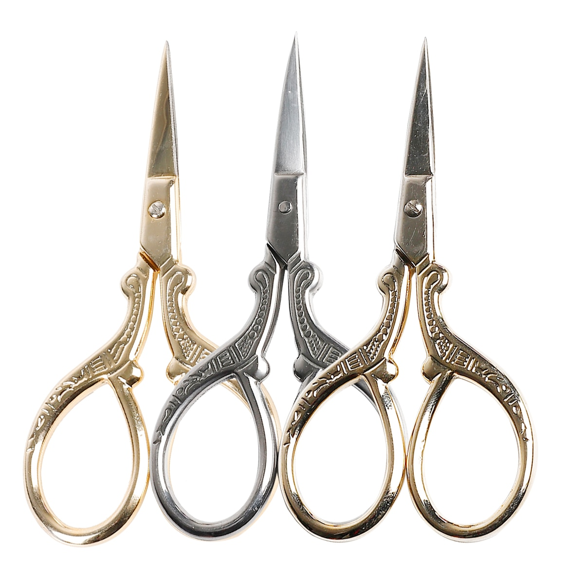 Stainless Steel Eyebrow Comb Scissors Manicure Nail Cuticle Trimmer Scissor Beauty Makeup Jewelry Ma