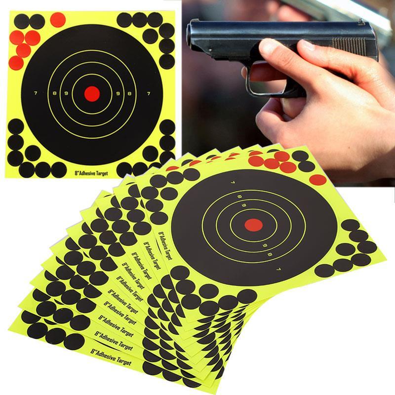 Tiro al blanco, papel económico amarillo, práctica, escopeta, Rifle, papel, blanco, cazador, adhesivos de destino al aire libre