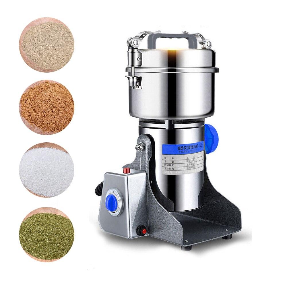 800 جرام سوينغ نوع الحبوب مسحوق الأعشاب ميلر مطحنة الطعام الجاف آلة عالية السرعة ذكي التوابل الحبوب كسارة