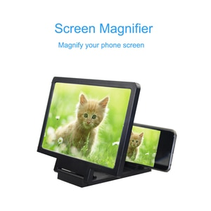 Universal Mobile Phone Screen Magnifier Bracket Enlarge Stand Eyes Protection Folding 3D Video Screen Display Amplifier Expander