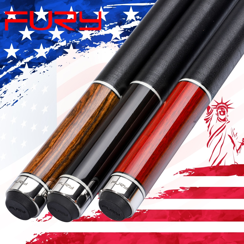 Official FURY Pool Cue NA11.75/12.75mm Tiger Tip Special Selected Maple Shaft Billiard Cue Stick Classic Rared Wood Tecnologia
