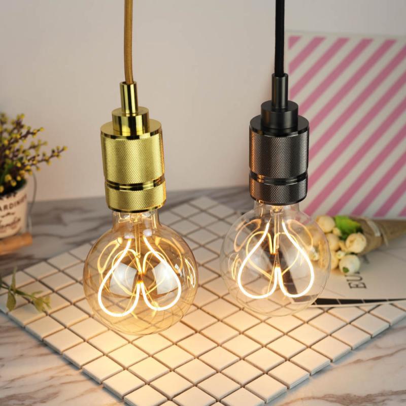Лампа Эдисона в стиле ретро E27 G95, лампа накаливания с регулируемой яркостью, 110 В, 220 В, 4 Вт