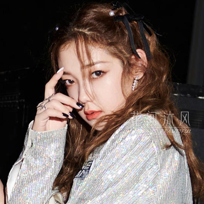 Hard Candy Girl Xilin Na Yi Gao Same Style Black Bow Barrettes Girl's Hair Accessories