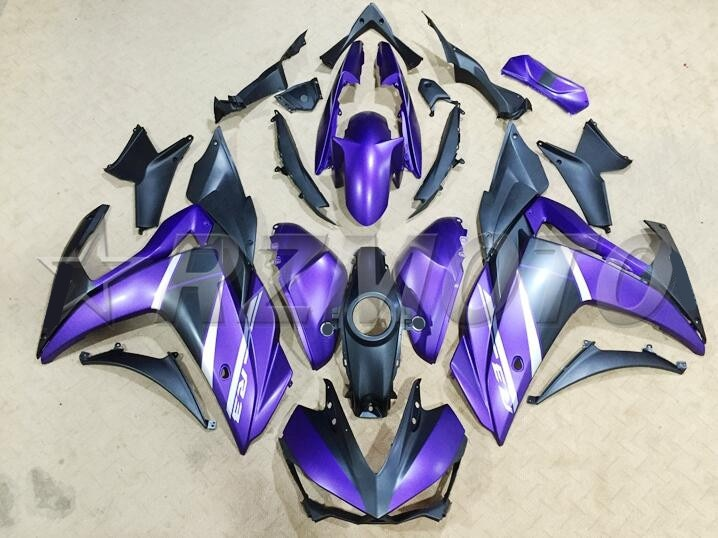 4Gifts 2014 2015 2016 YZF R3 R25 ABS Injection Fairing Kit For Yamaha YZFR3 YZFR25 Complete Fairings Kit Cowling Matte Purple