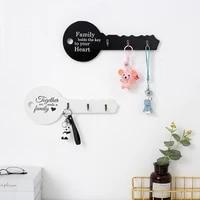 retro wood key holder wall key shape hook storage rack hanger decor hanging gifts home entrance door wall organizer