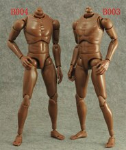 1/6 Scale Plastic Flexible Headless Narrow Shoulders Black People Muscular Body 12 In Action Figures Soilder Accessories Model