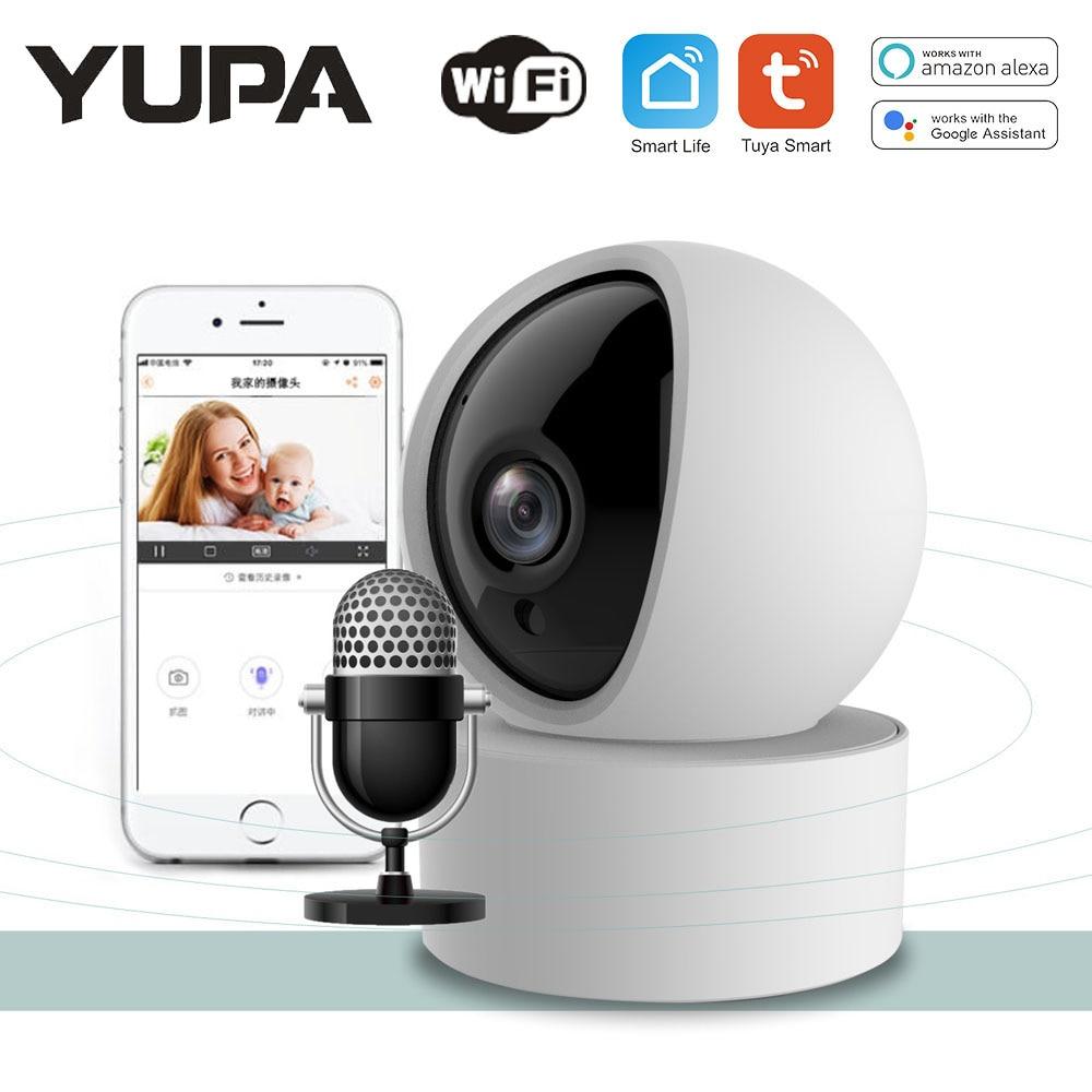 1080P TUYA Камера безопасности Камера Видеоняни и радионяни Wi-Fi Беспроводной Камера Smart отслеживания 350 градусов панорамирование вращения