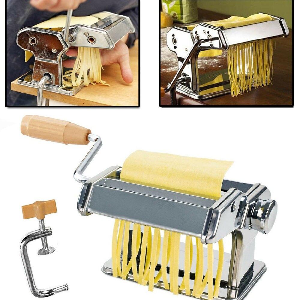 صانعة النودلز الفولاذ المقاوم للصدأ آلة الضغط المنزلية دليل المطبخ أداة أداة جوفاء ماكينة صنع المكرونة اليدوية ماكينة صنع المكرونة
