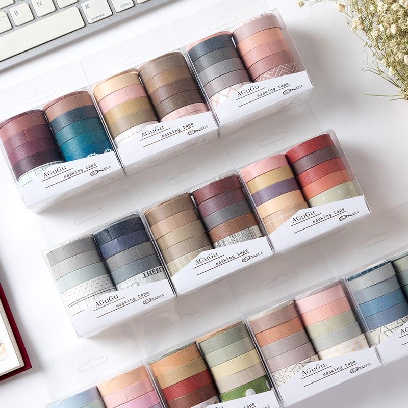 AliExpress - 10pcs/box Masking Washi Tape Stickers Scrapbooking Cinta Adhesiva Decorativa Washitape Bant Adhesive Flower Paper