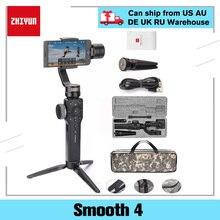 Zhiyun Liscia 4 3-Assi Mobile Handheld Gimbal Stabilizzatore Per Iphone 8 X Samsung S8 + Plus Galaxy S9 telefono Cellulare Smartphone