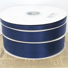 10yards/lot 9mm 25mm 38mm de large bleu marine double face ruban de satin bricolage arcs emballage cadeau ruban décoratif