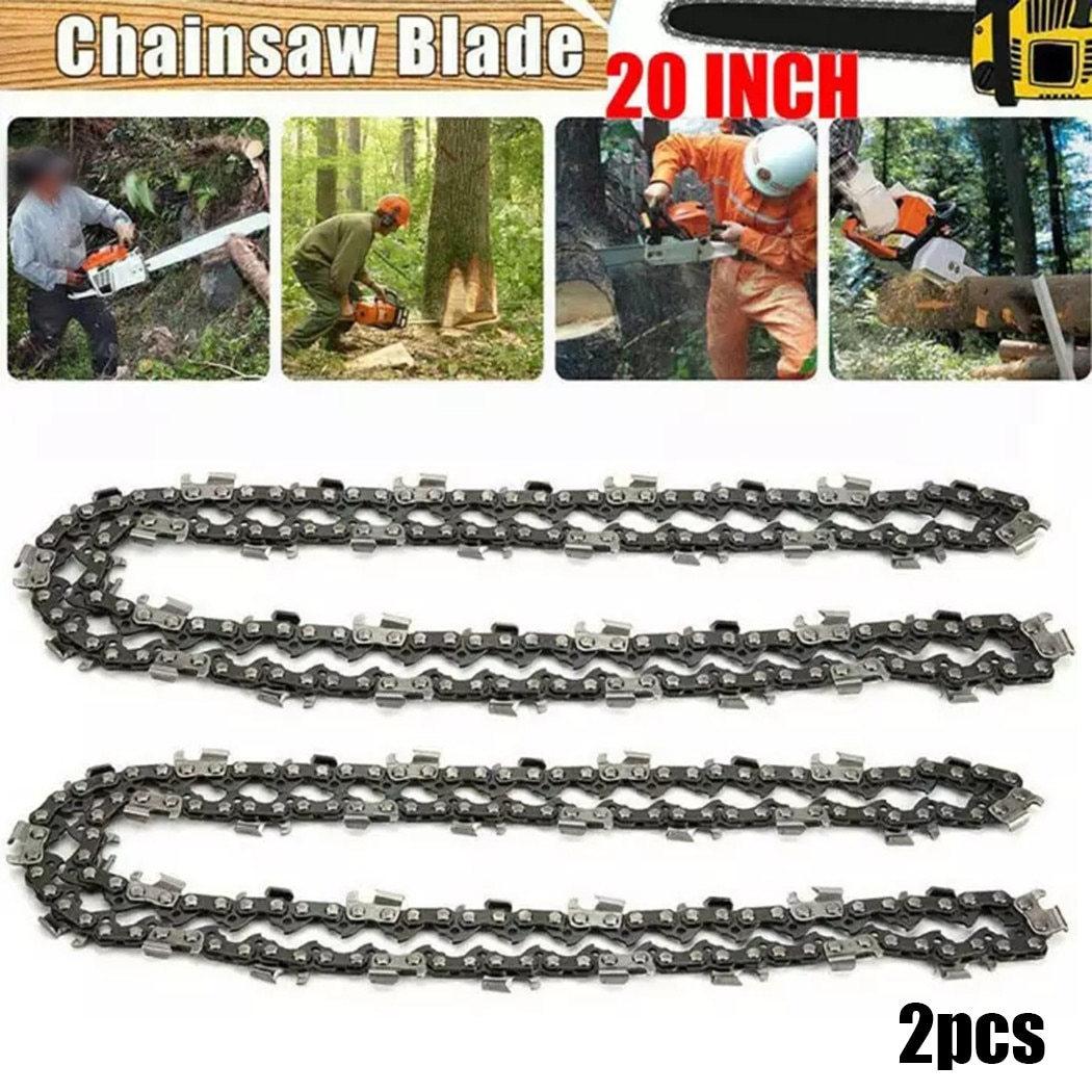 2PCS 20 Inch 76 DL 0.325 Pitch 0.058 Gauge Chainsaw Saw Chain Blade Wood Cutting Chainsaw Parts Chainsaw Saw Mill Chain