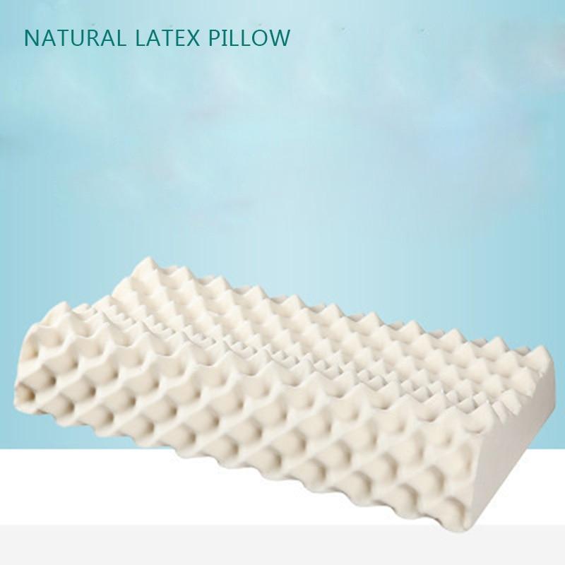 وسادة لتقويم العظام من اللاتكس, تصميم منحني ، طبيعي ، نقي ، لألم الرقبة ، النوم