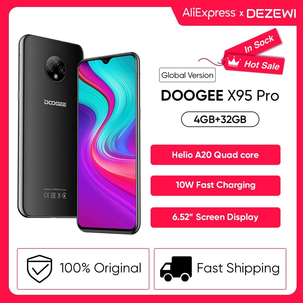 DOOGEE X95 Pro Helio A20 4 ядра, 4 Гб Оперативная память + 32 ГБ Встроенная память 13MP тройной Камера 4350 мА/ч, Батарея 6,52 дюймовых смартфонов мобильный теле...