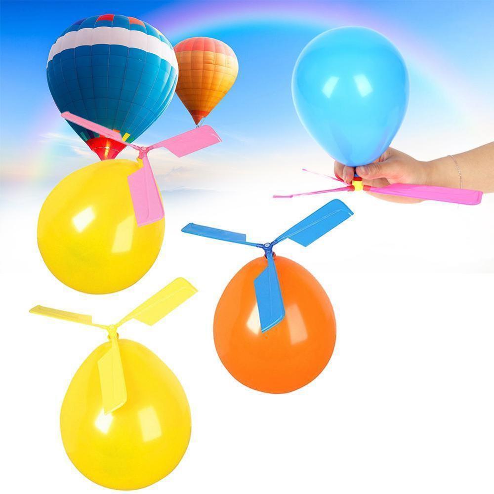 Huilong Новый три поколения воздушный шар вертолет воздушный шар пропеллер воздушный шар экологический воздушный шар случайный цвет