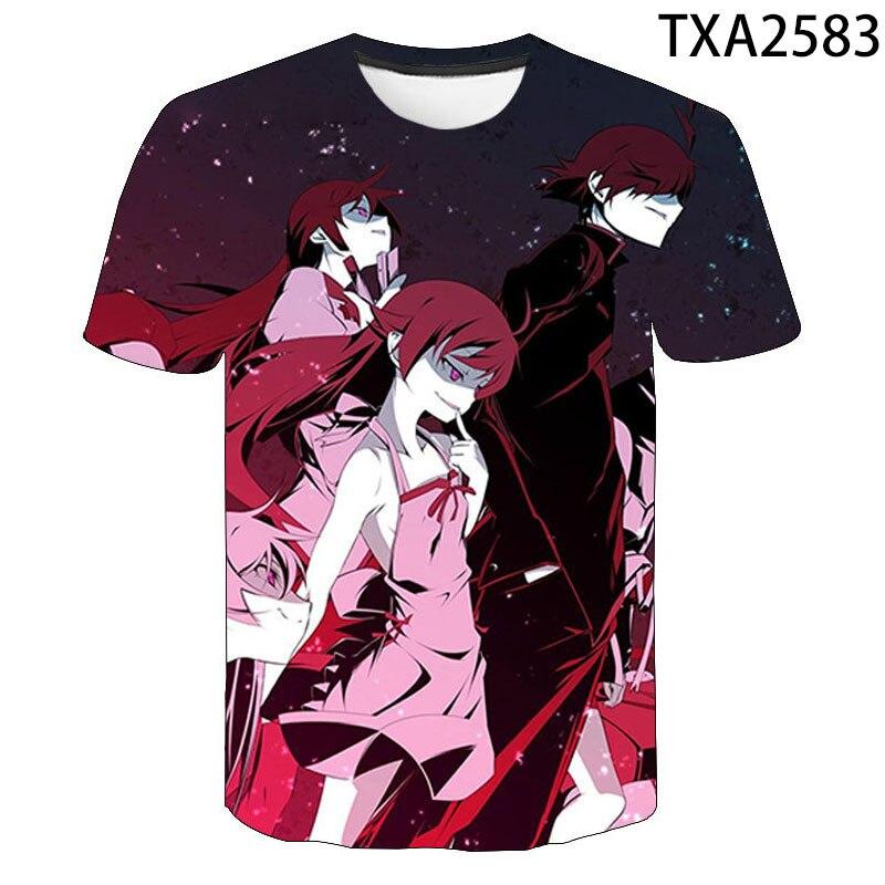 Monogatari histoire T-shirt Oshino Shinobu hommes femmes enfants T-shirt Anime vêtements Kawaii Cool Streetwear hauts garçon fille enfants T-shirt
