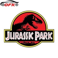 funny jurassic park door vinyl decal dinosaur car stickers windshield bumper windows jdm wrap 13cm x 10cm