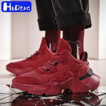 HUDENG Roman Mans trampki marki mężczyźni przypadkowi mężczyźni buty moda wysokiej jakości męskie skórzane buty Casual Zapatos wysokiej jakości INS