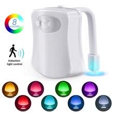 Smart PIR Motion Sensor Toilet Seat LED Night Light 8 Colors Toilet Bowl Waterproof Backlight LED Luminaria Lamp WC Toilet Light