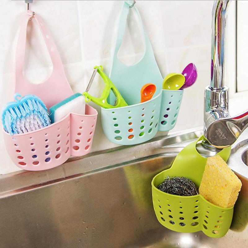 Acessórios de cozinha utensílios organizador ajustável snap sink sabão esponja titular cozinha pendurado drenagem cesta gadgets cozinha ferramenta