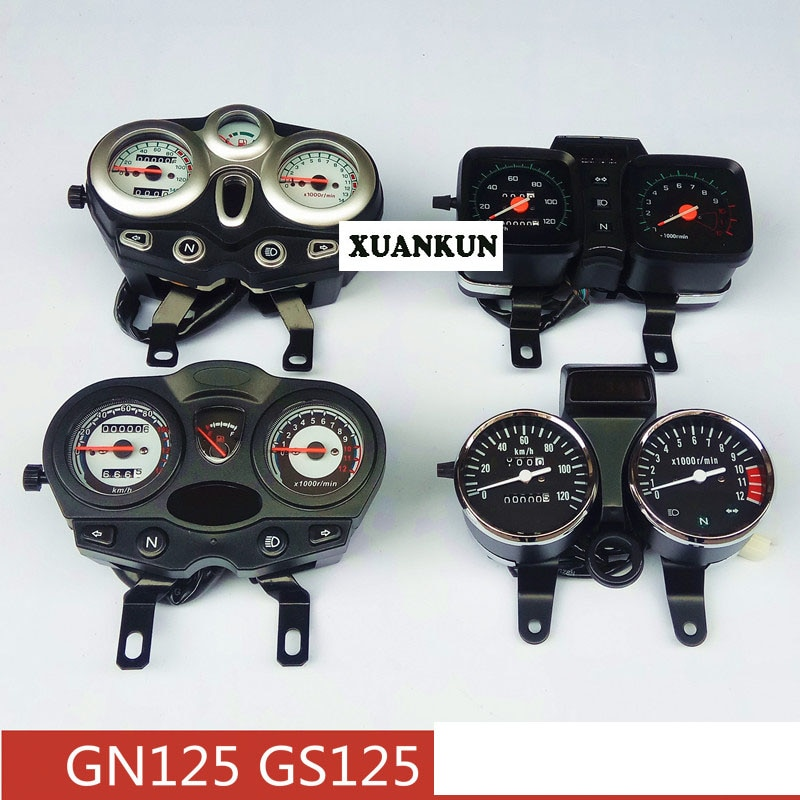 Ensamblaje de instrumentos de motocicleta GS125 GN125 medidor de código odómetro cinco